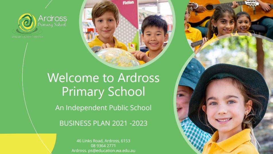 School Business Plan 2021-2023 snapshot